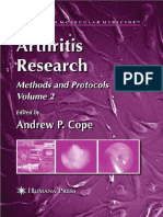 Arthritis Research Volume 2 Methods and Protocols