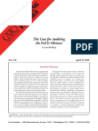 The Case for Auditing the Fed Is Obvious, Cato Briefing Paper No. 118