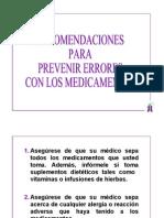 Prevenir Errores con los Medicamentos