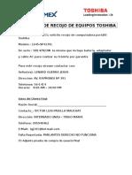 Victor Luis Padilla- Solicitud de Recojo de Equipos Toshiba