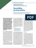 Storytelling als Intervention Verbesserung der häuslichen Pflege von  türkischen Migranten in Deutschland