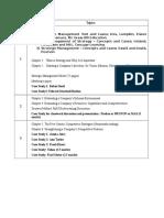 PBS Strategic Management Course Outline