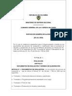 Disposición 039 Indicadores Evaluación Oficiales