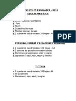 Lista de Utiles Escolares Emma