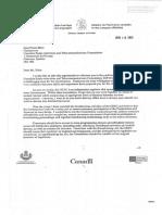 Mandate letter to JP Blais