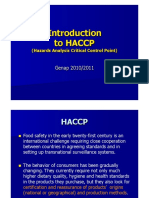 Introduction to HACCP