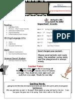 parent newsletter march 7-11