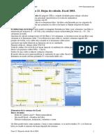 Tema 22. Hojas de Calculo. Excel 2003