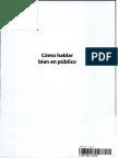 LIBRO - Couto - Como Hablar Bien en Público - Comunicar, Persuadir y Convencer Con Palabras
