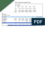 Cédula de Impuestos 2014 Gerardo Espinosa.