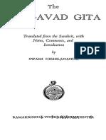 Srimad Bhagavad Gita With Commentary - Swami Nikhilananda (1944) [English]