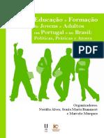 Educação e Formação de Jovens e Adultos em Portugal e no Brasil
