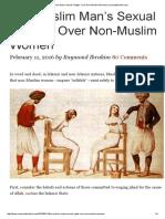 """The Muslim Man's Sexual """"Rights"""" Over Non-Muslim Women _ Raymondibrahim"""