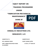 HINDALCO SUMMER TRAINING Report Main File