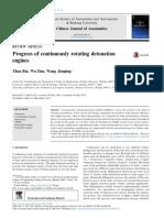 Progress of Continuously Rotating Detonation Engines