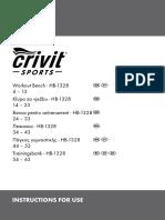 Πάγκος Γυμναστικής Lidl Hb-1328 (Ian 53317) Οδηγίες Χρήσης_gr