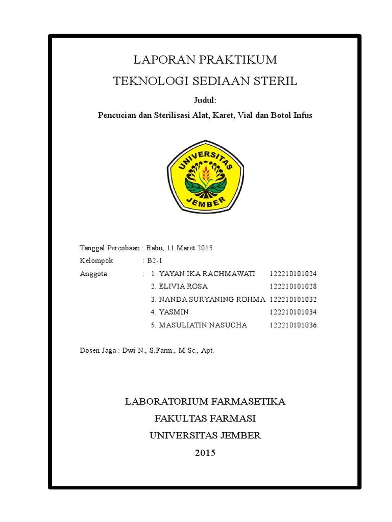 laporan sterilisasi alat