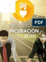 Convocatoria de Incubación 2016