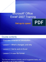 Office2007 Excel Trainfffing