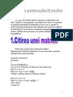 citirea unei matrice