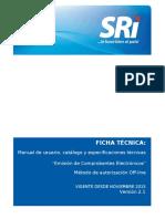 FICHA TECNICA COMPROBANTES ELECTRO´NICOS offline versio´n 2.10 10112015