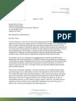 North Carolina's letter to EPA