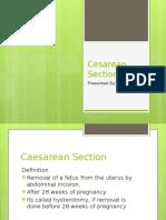 Cesarean Section Report Richard Lim