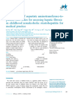 The Efficacy of Aspartate Aminotransferase-To-(1)