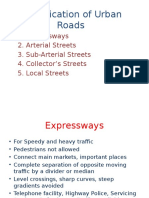 classification of urban roads