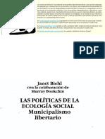 Las Politicas de La Ecologia Social - Municipalismo libertario