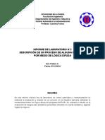 Informe de Logica Difusa Control Automatico e Instrumentacion