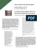 Persist Reviews Flyer