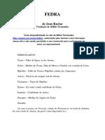 Racine, Jean -Fedra