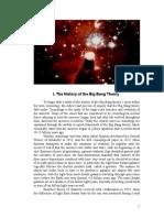 The history of Big Bang