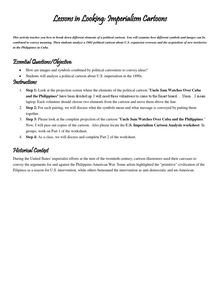 Interpreting Political Cartoons Worksheet : Worksheet analyzing political cartoons