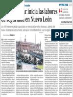 03-03-16 Policía Militar inicia las labores de seguridad en Nuevo León