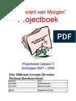 Projectboek 2008 Klas 3