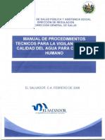 Manual de procedimientos técnicos para la vigilancia de la calidad del agua para consumo humano