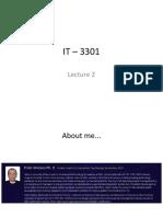 SFC IT 3301 - Lecture 2