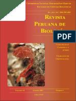 REVISTA PERUANA DE BIOLOGÍA v14n01