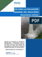 Metodologia Evaluacion Regional Agua Era