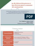 Estrategias de Detección Precoz e Intervenciones Breves Para Consumo de Sustancias