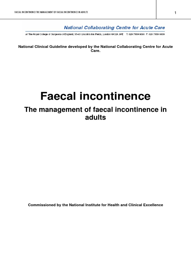 Fecal Incontinence Clinical Trial Evidence Based Medicine Ibanez At100 Wiring Diagram