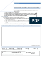 professional competency self evaluation sheets 0