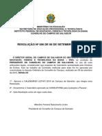 Calendario IFBA2015 Pos-greve