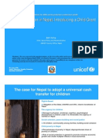 Social Protection in Nepal; Introducing a Child Grant