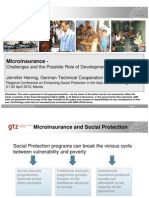 Microinsurance - Challenges and the Possible Role of Development Cooperation