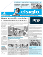 Edicion Impresa El Siglo 04-03-2016