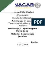 Ensayo Sobre La Deontología Jurídica.