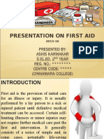 A Presentation on First Aid
